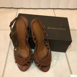 Bottega Veneta leather slingback sandals size 38